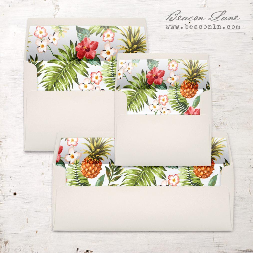 Pineapple Paradise Envelope Liner