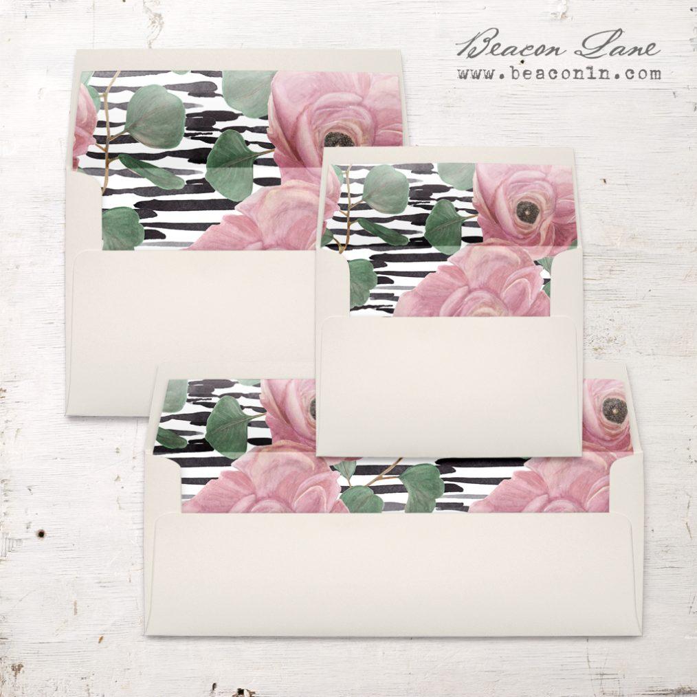 Pink Blooms Envelope Liner