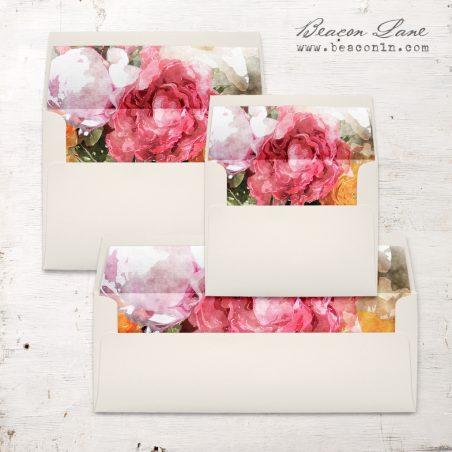 Pink Petals Envelope Liners