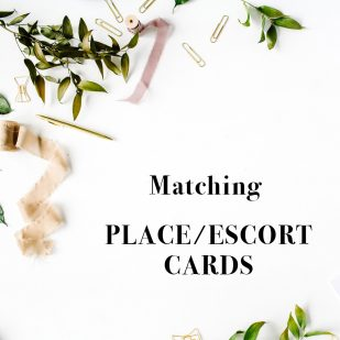 Corresponding Place & Escort Cards