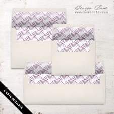 Plum Circles Envelope Liner