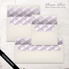 Plum Circles Envelope Liner