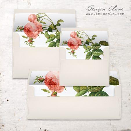 Rose Gold Glam Envelope Liner