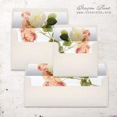 Rustic Garden Chic Envelope Liner