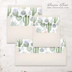 Sage Cactus Envelope Liner