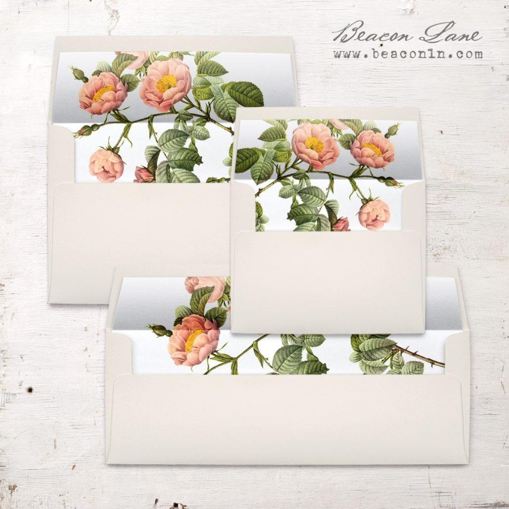 Shabby Rose Envelope Liner
