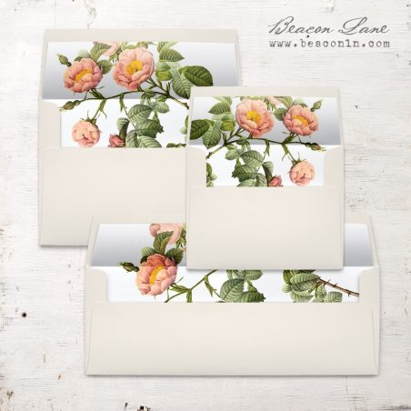 Shabby Rose Envelope Liner