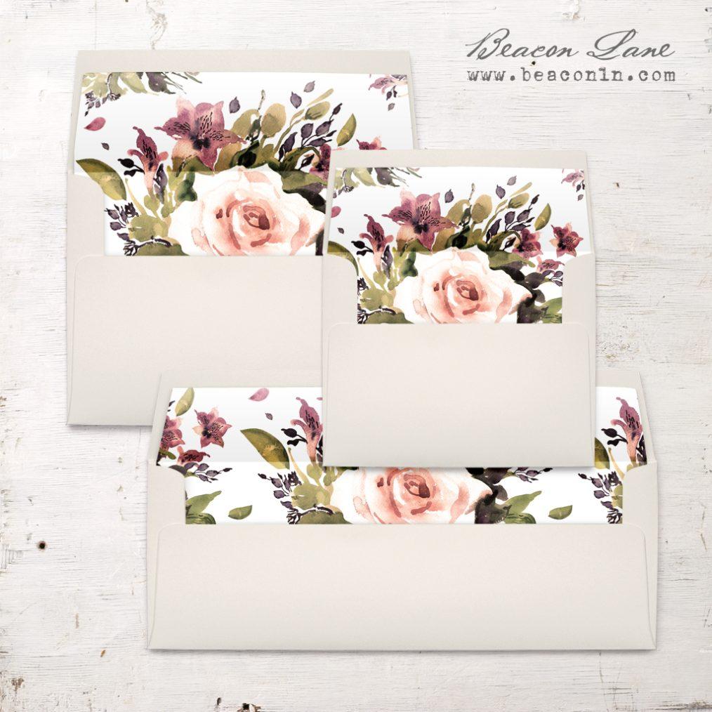 Soft Roses Envelope Liner
