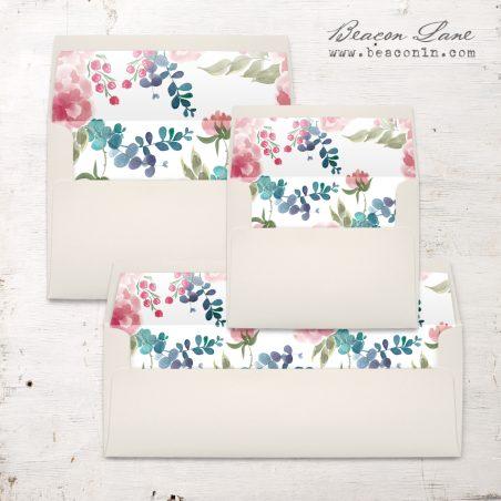 Spring Floral Envelope Liner