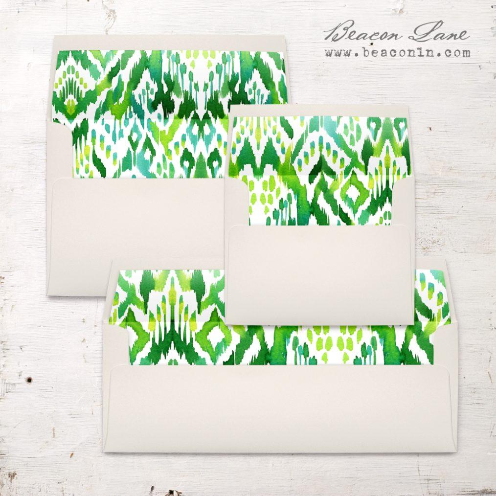 Succulent Script Envelope Liner