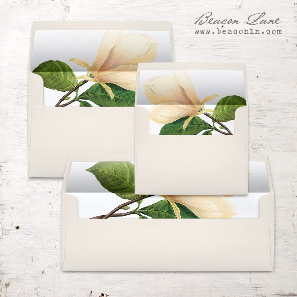 Sweet Magnolia Envelope Liner