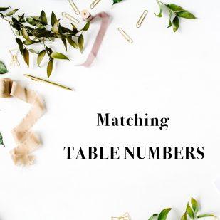 Corresponding Flat Table Numbers