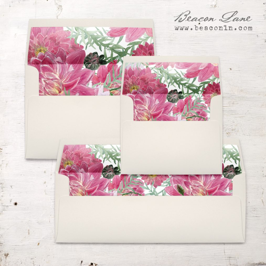 Tropical Blush Envelope Liners