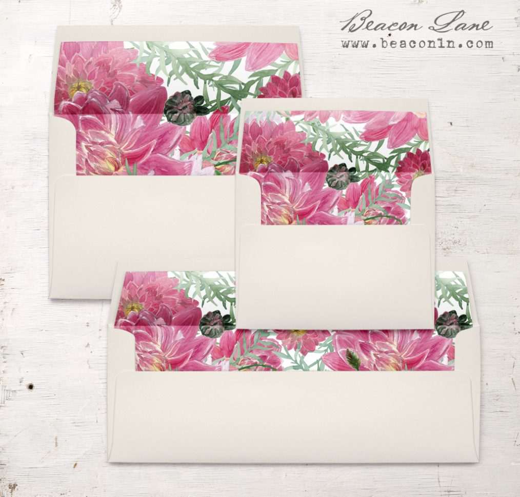 Tropical Blush Envelope Liners
