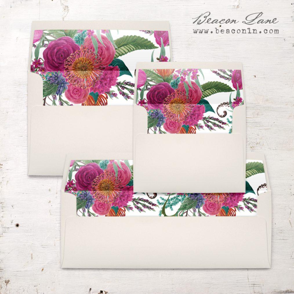 Tropical Flower Envelope Liner