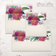 Tropical Flower Envelope Liner