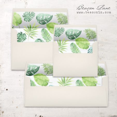 Tropical Green Envelope Liner