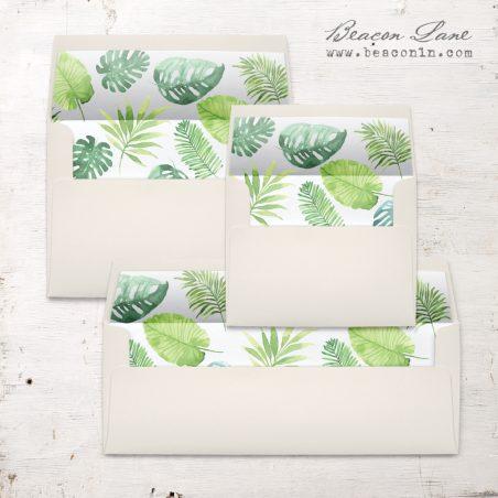 Tropical Green Envelope Liner