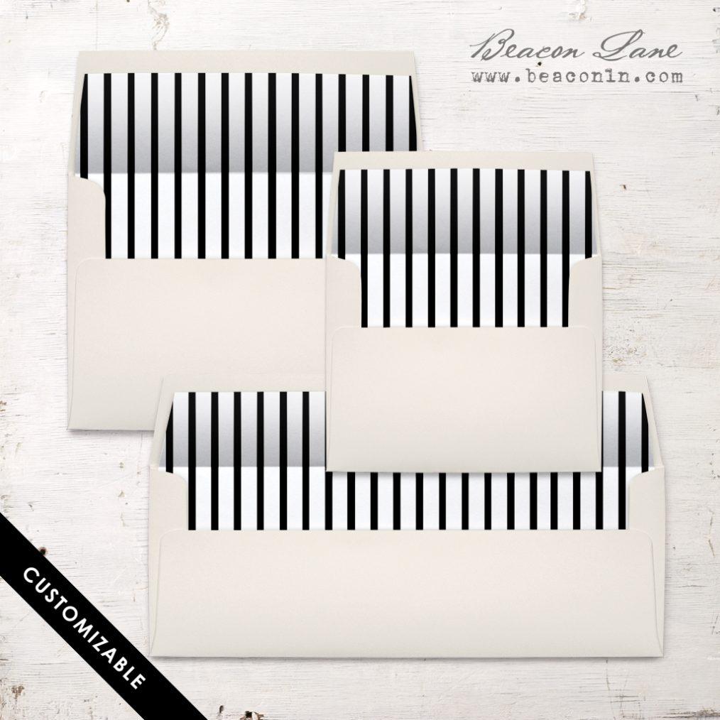 Vertical Stripes Envelope Liner