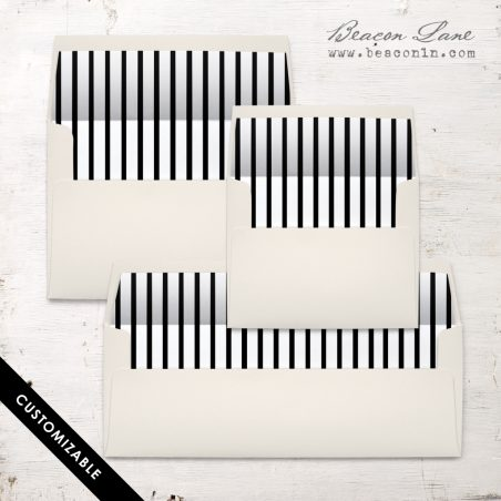 Vertical Stripes Envelope Liner