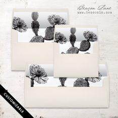 Vintage Cactus Envelope Liner