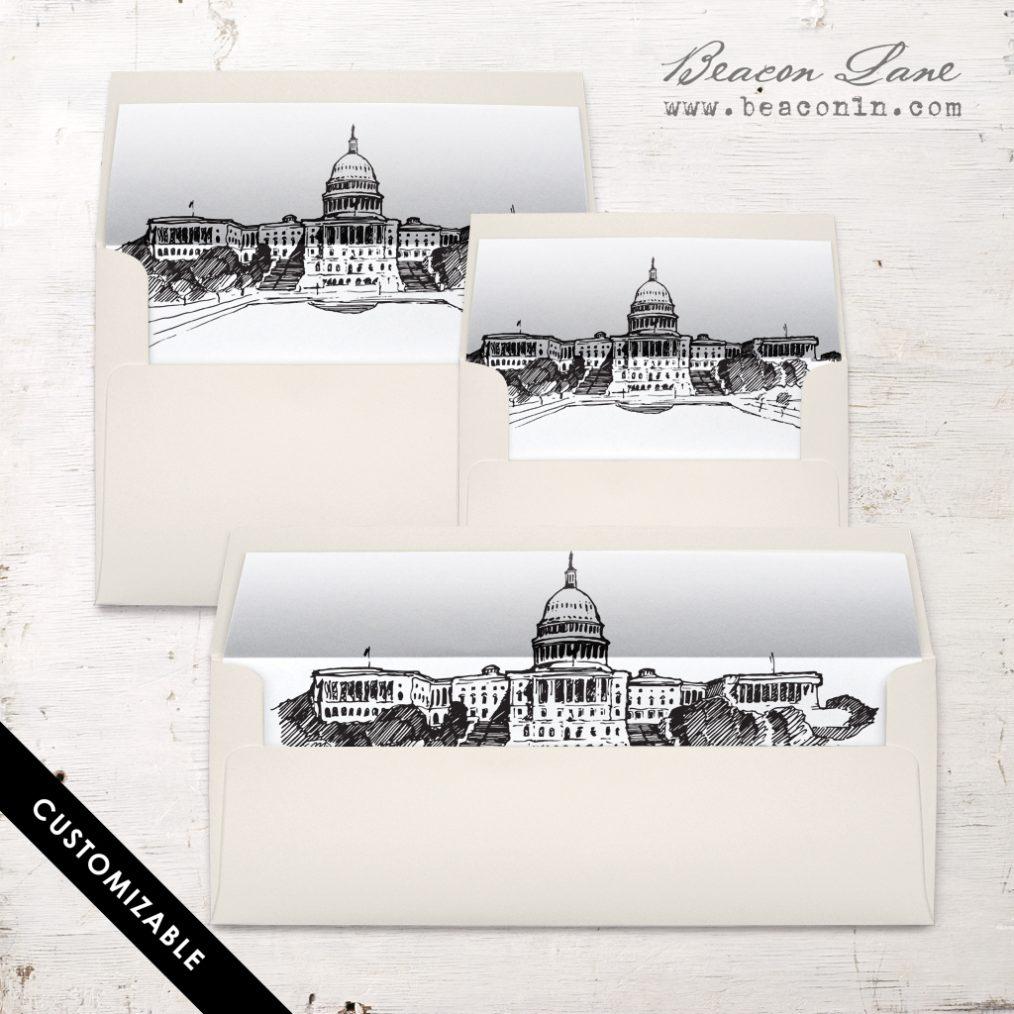 Washington DC Envelope Liner