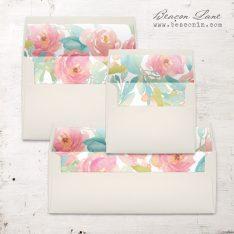 Watercolor Pastel Envelope Liner