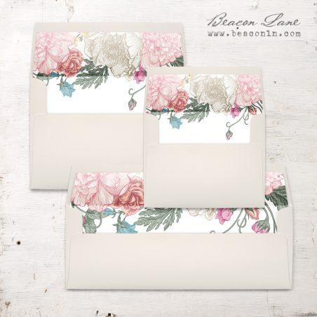 Whimsy Garden Envelope Liner