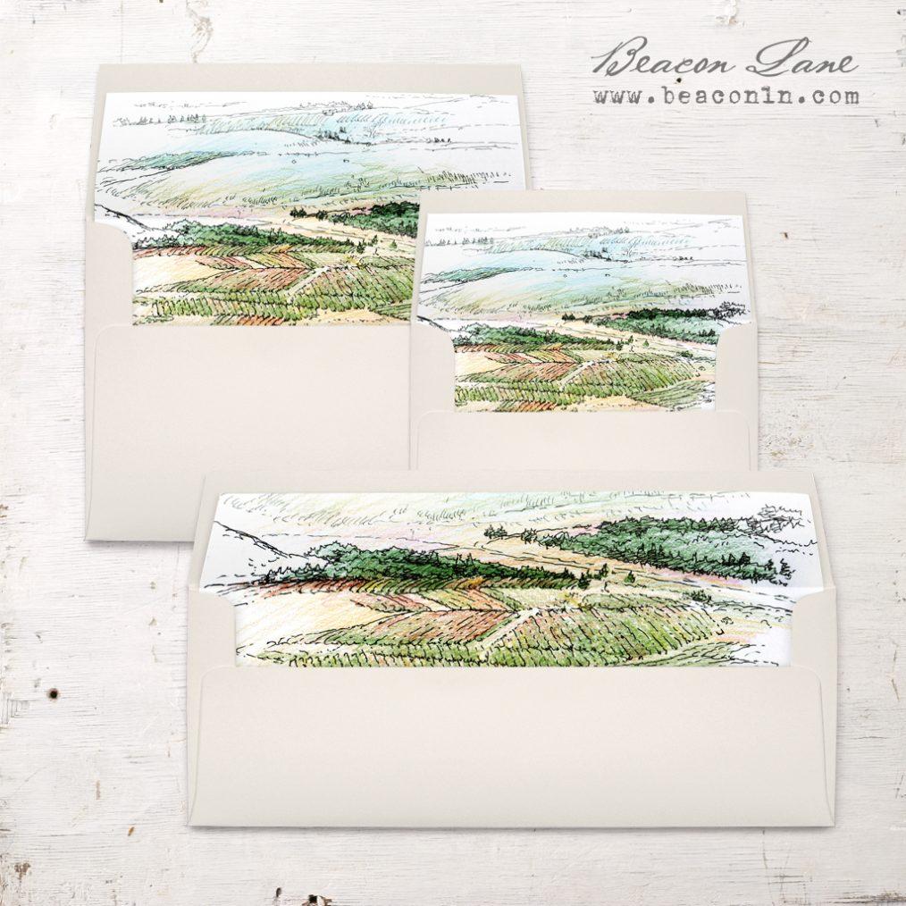 Winery Landscape Envelope Liner