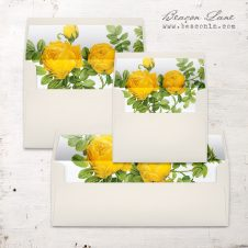 Yellow Garden Rose Envelope Liner