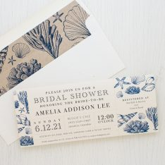 Beach Blues Bridal Shower Invitations