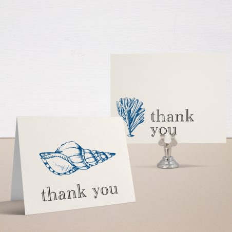 Beach Blues Bridal Shower Thank You Cards