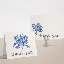 Blue Bouquet Bridal Shower Thank You Cards