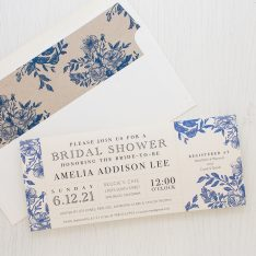 Blue Boquet Bridal Shower Invitations