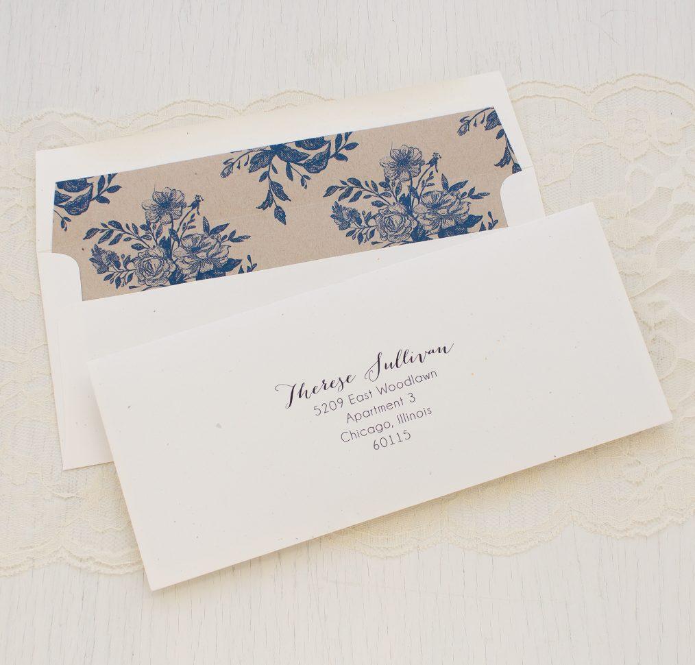 Blue Bouquet Bridal Shower Invitations