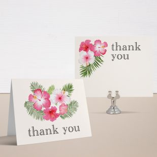 Bright Tropical Bridal Shower Thank You Cards
