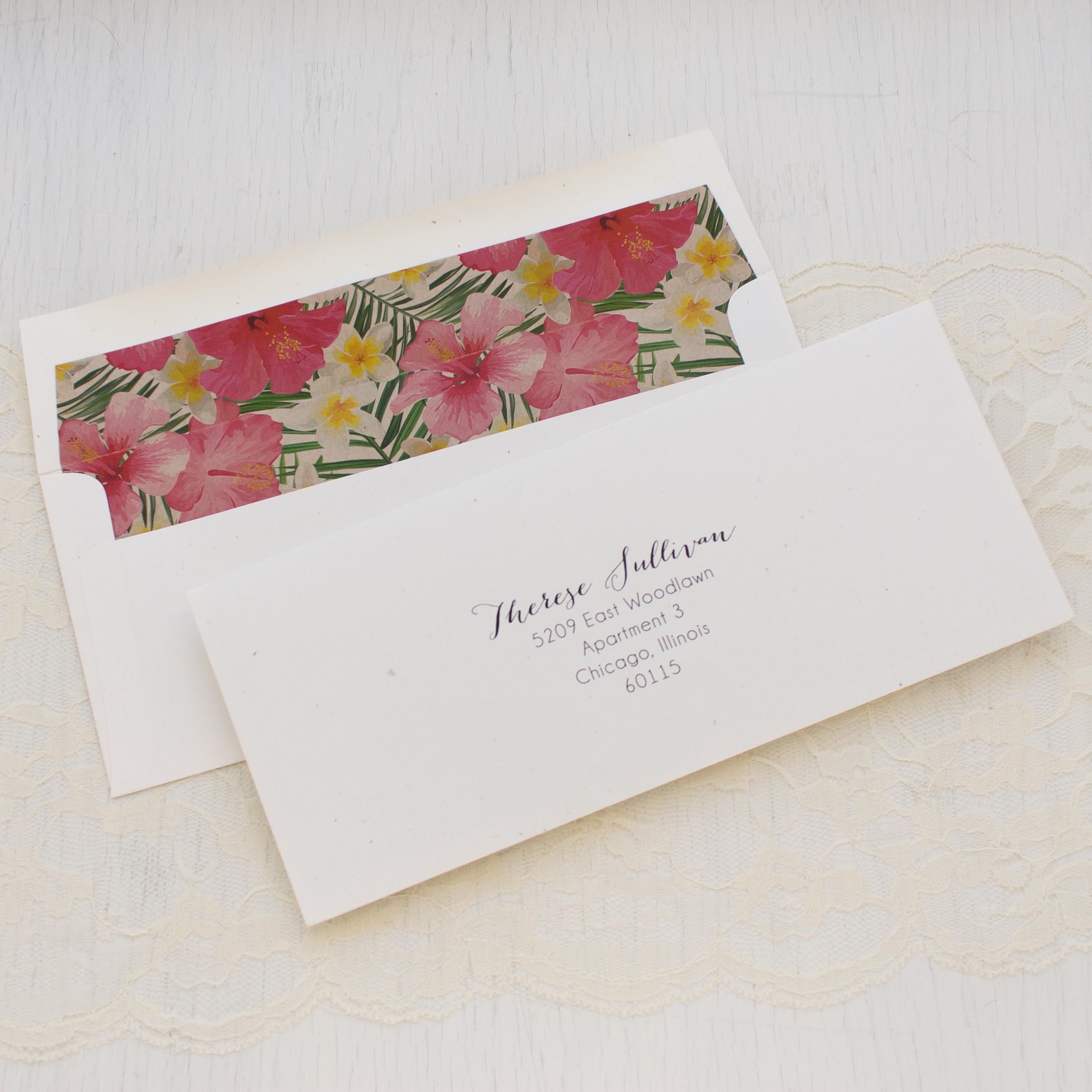 Bright Tropical Bridal Shower Invitations