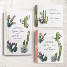 Desert Love Ceremony Booklets