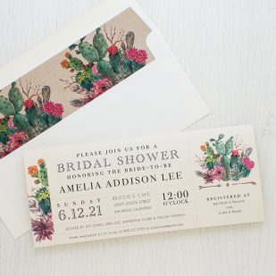 Desert Blooms Bridal Shower Invitations