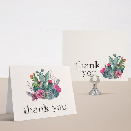 Desert Blooms Bridal Shower Thank You Cards