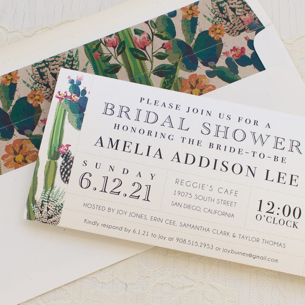 Desert Love Bridal Shower Invitations