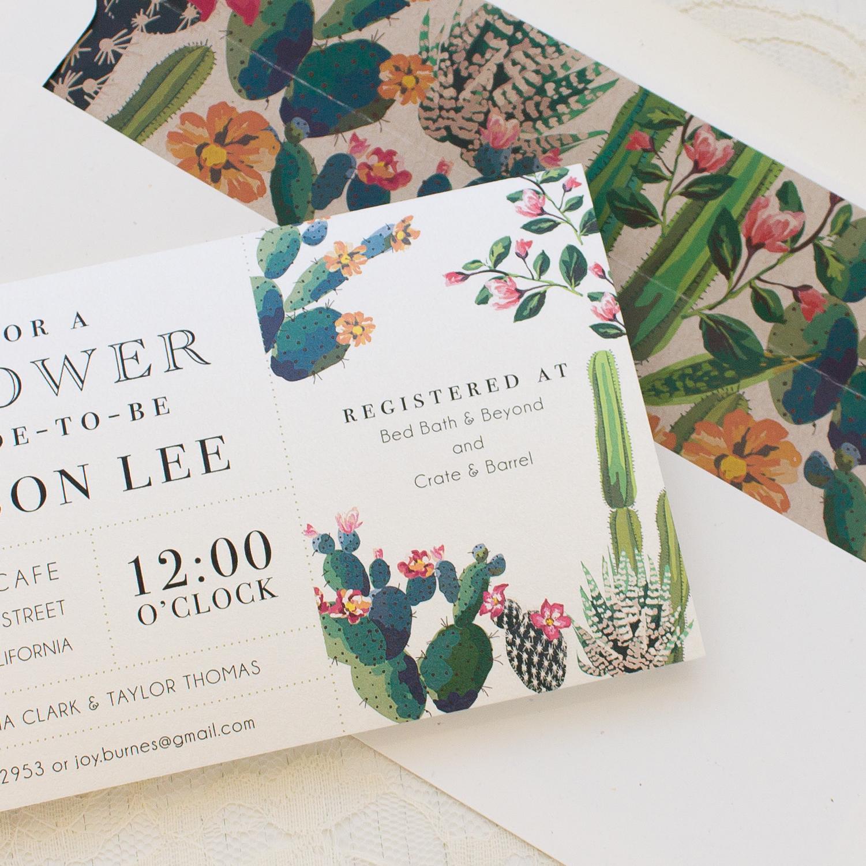 Desert Love Bridal Shower Invitations