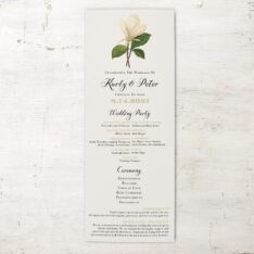 Sweet Magnolia Flat Ceremony Programs