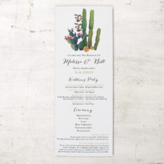 Desert Love Flat Ceremony Program