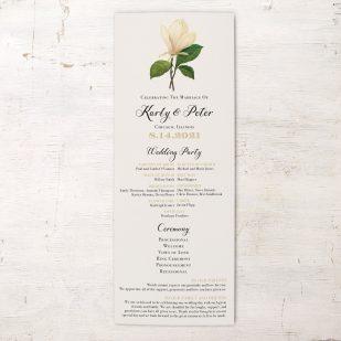 Sweet Magnolia Flat Ceremony Programs