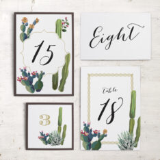Desert Love Flat Table Numbers
