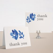 Floral Blues Bridal Shower Thank You Cards