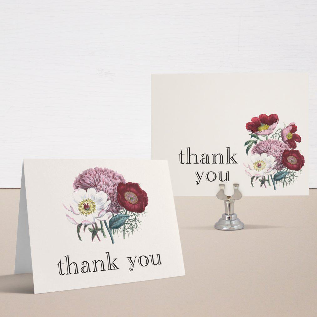 Floral Boho Bridal Shower Thank You Cards