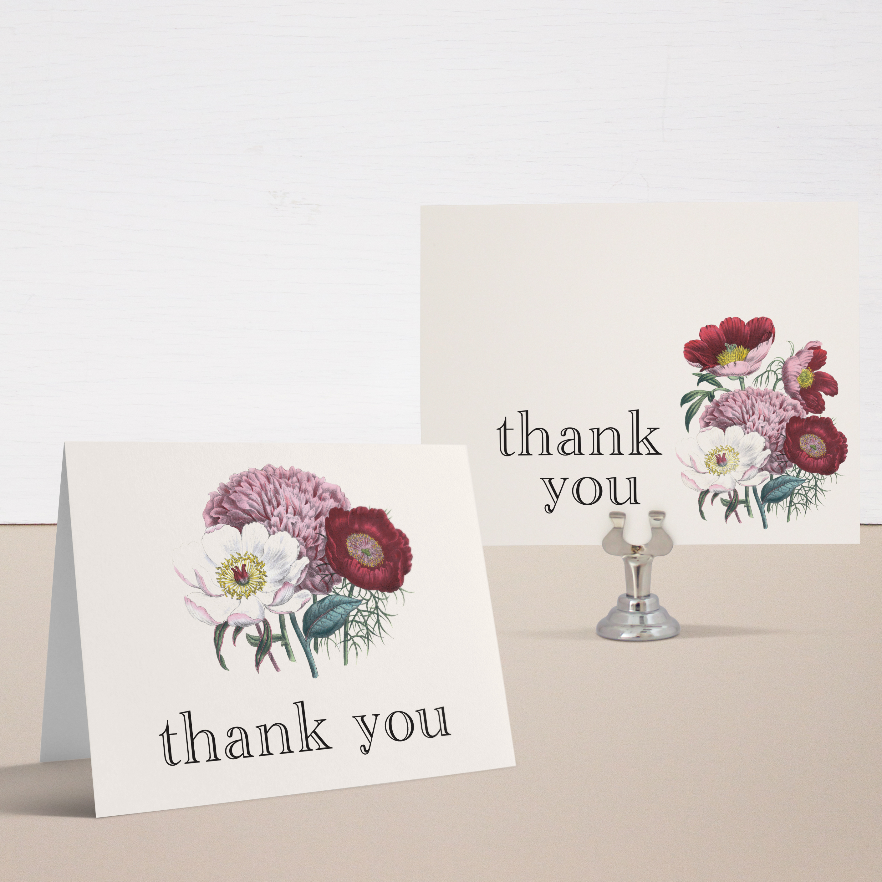 Floral Boho Bridal Shower Thank You Cards