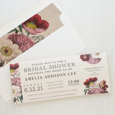 Floral Boho Bridal Shower Invitations